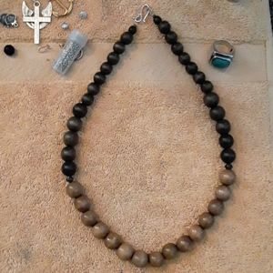 Mens Afrocentric Wood Necklace